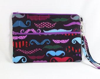 Colorful mustache print iPad mini case