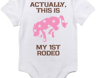 My First Rodeo One Piece Bodysuit for Girls
