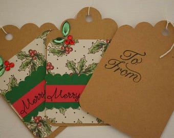 Beautiful Christmas gift tags