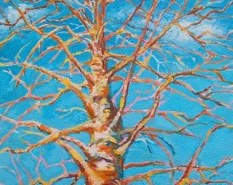 "Original painting ""Betulla tree"" Art"