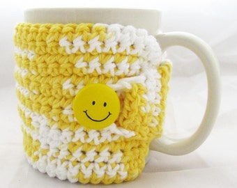 Coffee Cozy or Cup Cozy -Sunshine Yellow