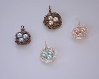 Bird's Nest Pendants