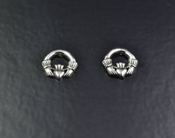 Sterling Silver Claddagh Studs