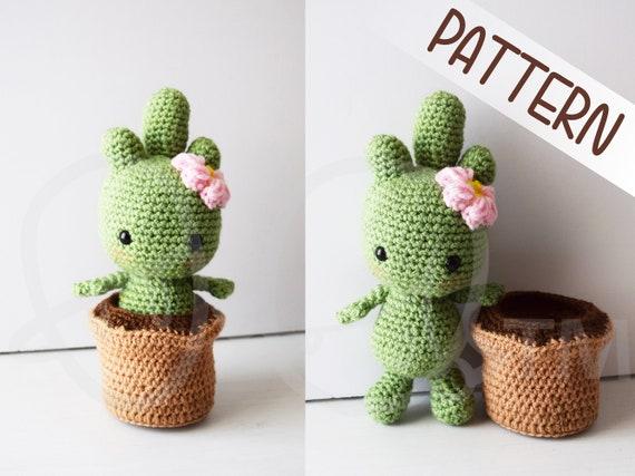 Amigurumi Cactus Crochet Pattern : Cactalina cactus crochet pattern removable pot crochet