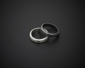 YIN/YANG XL Solid sterling silver hand-forged minimalist statement ring
