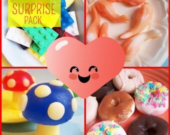Blooper Mystery Surprise Soap Pack - Soap Sale, Clearance Soap, Grab Bag Soap, Try it Soaps, Surprise Set, Kids Soap, Novelty Soap, Bath