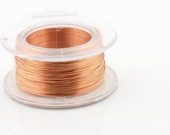 25% OFF!! Copper Wire - 26g AWG Non-Tarnish Copper Wire -  30 Yard Spool.