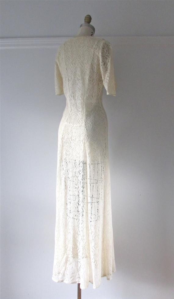 Je T\'aime / 40s wedding dress / vintage 1940s lace wedding