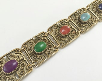SARAH COVENTRY BRACELET - Cabochon Bracelet - Gold Tone - Link Bracelet