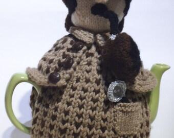 Sherlock Holmes Tea Cosy Knitting Pattern