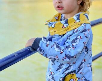 MBJM Cottesloe Cowl PDF Sewing Pattern Small Newborn - Age 12