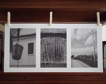Photo Collection: Village - Fine Art Photography - Black and White Wall Hanging