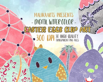 Easter eggs clipart Colorful Easter Eggs Kawaii Easter Eggs Clipart Easter clipart watercolor clipart for scrapooking planners stickers