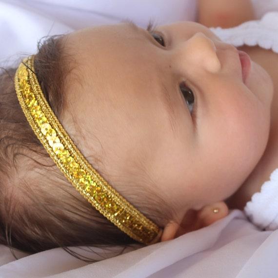 Baby Girl Headband, Baby Gold Headband, gold headband, baby headband, newborn headband, headband, hair accessories, gold headbands