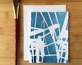 Abstract Blank Notecard