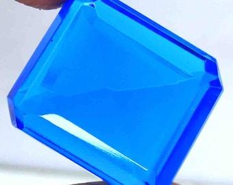 102.70 Ct Certified Top Quallity Emerald Cut Transparent London Blue Topaz Loose Gemstone AO2055