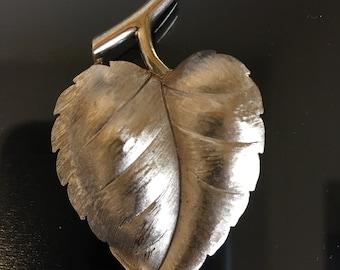 Goldtone Leaf Trifari Brooch
