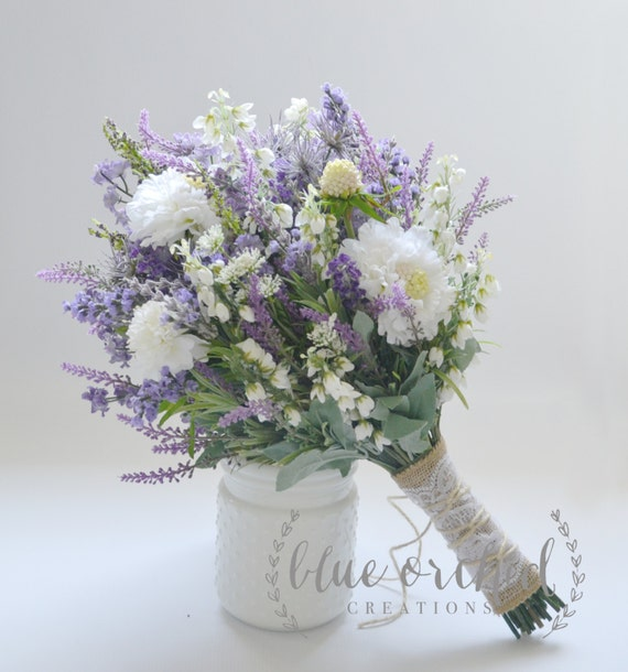 Wild Flower Wedding Bouquet: Wildflower Bridal Bouquet Rustic Bouquet Lavender