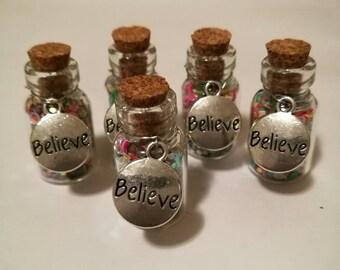 I Believe: Rainbow Glitter Bottles