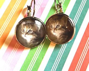 Kitten earrings - 16mm
