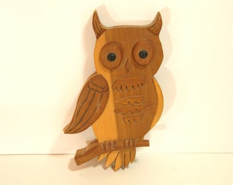 Wooden Owl  Wallhanging