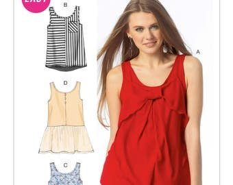 McCall's Sewing Pattern M6928 Misses' Tank Tops and Tunics