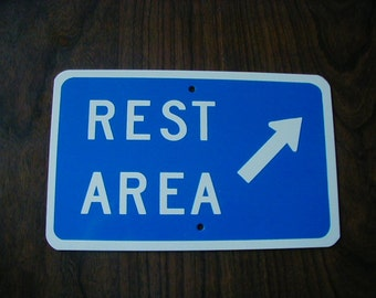 Rest Area  MINIATURE  traffic  SIGN    FREE Shipping