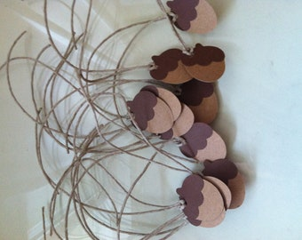 12 Acorn gift tags