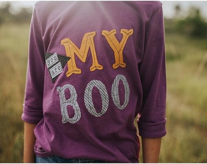 "Swanky Shank ""You Are My Boo"" Hand-Dyed Purple Tee"