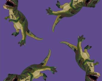 Purple Dinosaur Scarf * Womens Dinosaur Clothes * Ultra Violet T-Rex Print * History Gift Fabric * Dinosaur Fashion * Dino Girl Geek Gift