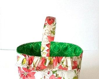 Mother's day gift basket, Baby nursery toy storage, Medium diaper caddy, Floral basket