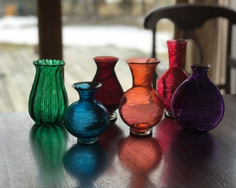 Small Glass Bud Vases
