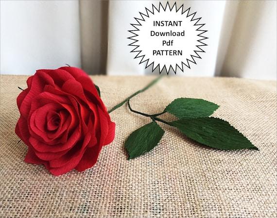 Paper craft pdf pattern diy paper roses crepe paper roses mightylinksfo Gallery