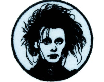 Edward Scissorhands Patch Iron on Applique Gothic Clothing Classic Movie Tim Burton - YDS-EMPA-029-PATCH