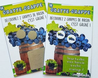 Grape light scratch card wedding