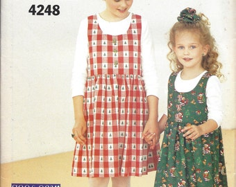 Girl's Jumper, Top Sewing Pattern, Butterwick See & Sew, 4248