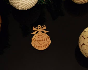 Bauble with Christmas Decoration 3mm MDF