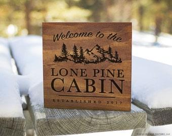 Custom Cabin Signs, Cabin Signs, Cabin Decor, Cabin Wall Decor, Lodge Sign, Lodge Decor, Rustic Signs, Rustic Wall Decor (GP1095)
