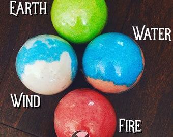 Earth Wind Water Fire Bathbomb set