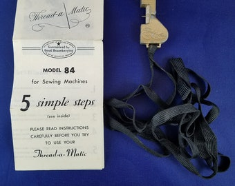Thread-a-Matic Vintage Sewing Machine Needle Threader 1950s