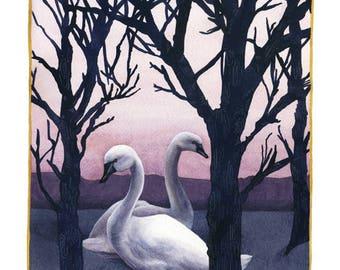 Fine Art Print of Original Watercolor Painting - Winter Stillness