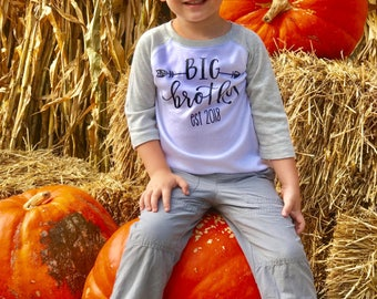 Big brother announcement shirt, Big Brother T Shirt, Big Brother Little Brother, Big Brother Gift, Little Brother Coming Home Outfit and Hat