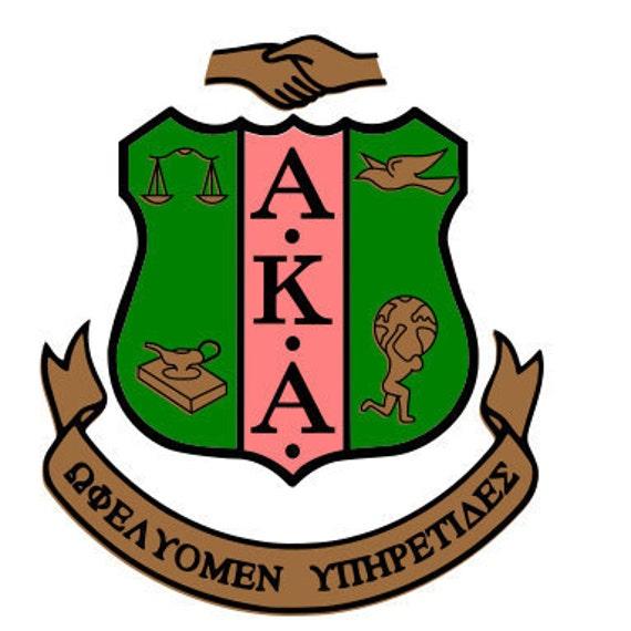 aka shield alpha kappa alpha sorority greek letter shield from rh etsystudio com delta and aka clipart AKA Sorority Clip Art