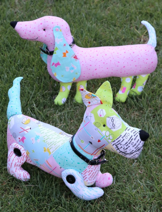 sewing pattern,sausage dog pattern, plush dog, toy sewing pattern ...