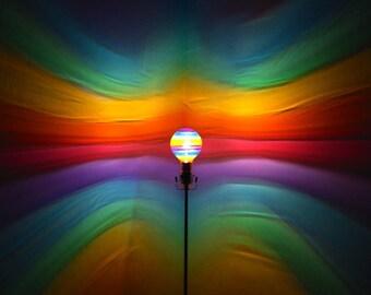 Rainbow Painted MoodLight Bulb/Rainbow Bedroom/Night Light/Kids Bedroom/MoodLight/Accent Light/Pride/Yoga Room/Projection Lamp/Fairy Light