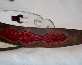 Hand Crafted Leather Guitar Stap