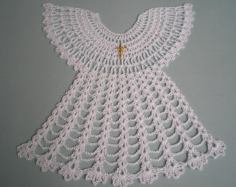 White christening robe