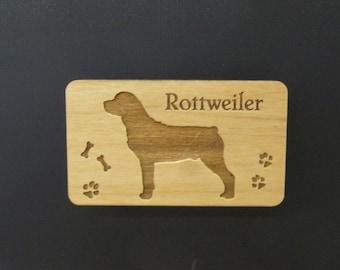 Original Design Rottweiler Wood Magnet