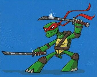Ninja Turtle giclee print