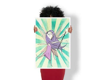 Fairy Pixie Wand Wings - Art Print / Poster / Cool Art - Any Size